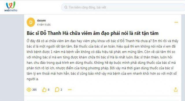 Đánh giá chân thực về bác sĩ Đỗ Thanh Hà